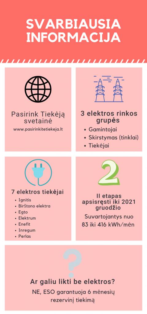 Elektros tiekėjo pasirinkimas - svarbiausia informacija